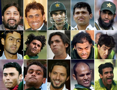 Pakistan team picture for World Cup 2007: Top row (L-R): Inzamam, Younis,
