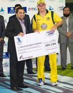 Michael Hussey was the Man of the Match