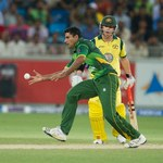 Abdul Razzaq stops the ball