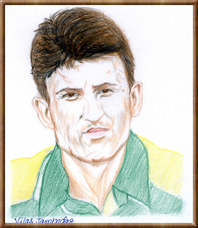Younis Khan - Portrait Sketch