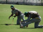 Pakistan players warm-up, Pakistan, Abbotabad training camp 2013