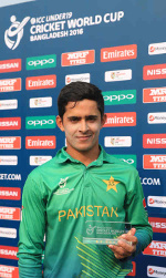 Umair Masood was the Man of the Match, Pakistan Under-19s v West Indies Under-19s, 08 Feb 2016, ICC Under-19 World Cup 2015/16