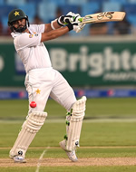 Azhar Ali on his way to a historic 302* during the 1st Day/Night Test, Pakistan v West Indies, Dubai Sports City Stadium, Dubai, 13th, 14th, 15th, 16th, 17th October 2016